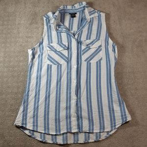 Rue21 Button Up Tank Top